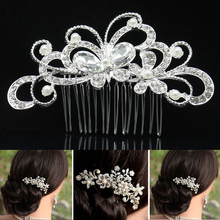 20Styles European Design Floral Wedding Hair Accessories Pearl Crystal Flower Bridal Hair Comb Wedding Hair Jewelry Hot Selling