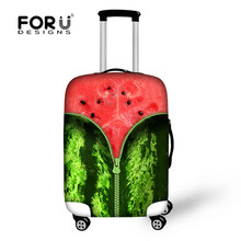 FORUDESIGNS Elastic Travel Accessories 3D Fruit Prints Think Spandex Luggage Protective Cover For 18-30inch Suitcase Case Cover