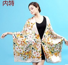 Nate hangzhou silk scarves double button warm 100% mulberry silk 3 scarves changed scarf shawl to winter