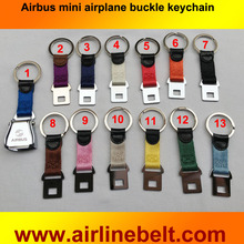 Airbus airline Brand aircraft airplane seat belt buckle keychain Pilot flying key chains free shipping keyring strap key ring