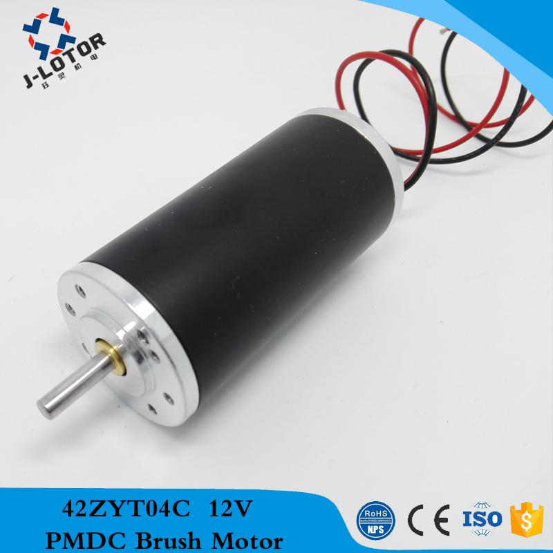 42ZYT04C 160W 12v 24v 48v 8770rpm high power and low noise Permanent Magnet Brush DC Electric Motor with 100mNm <br>