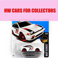 Toy cars Alloy Mini Roadster Diecast Cars White 1985 HONDA CR-X Models For Collection Wholesale Metal Cars Hot Wheels 1:64(China)