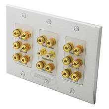 Aluminum Plate Home Theater 8.2 Surround Sound Speaker Banana Wall Plate