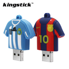 Fashion Barcelona Messi 32gb usb flash drive Football player Jersey model pen drive memory stick 4gb 8GB 16gb pendrive u disk(China)