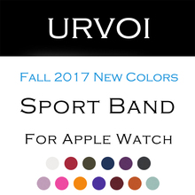 URVOI Fall 2017 Sport band for apple watch series 3 2 1 with pin-and-tuck closure Silicone strap for iWatch colorful replacement(China)