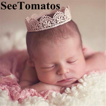 Knitting Crown Newborn Photography Props Cute Baby Caps Soft Baby Hat Baby Infant Headband Crochet Newborn Hats
