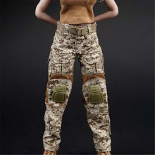 "Mnotht Toy AS016 1/6 Female Combat Camouflage Pants For 12"" Soldier Doll Figure l30 1:6 Solider Clothes(China)"