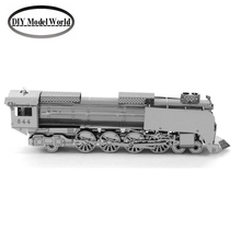 STEAM LOCOMOTIVE car model kit laser cutting 3D puzzle DIY car metal jigsaw free shipping best gift for kids educational toys