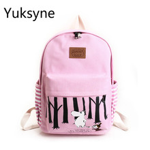 Girls Backpack Young Ladies Casual Daypacks Back To School Backpacks Rabbit Printing Bags Female's Backpack Girls Cute Schoolbag
