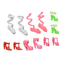 Accessories For Barbie Doll Set of Fashion Plastic Shoes Comb High Heels for Barbie Girl Gift Toys 17pcs
