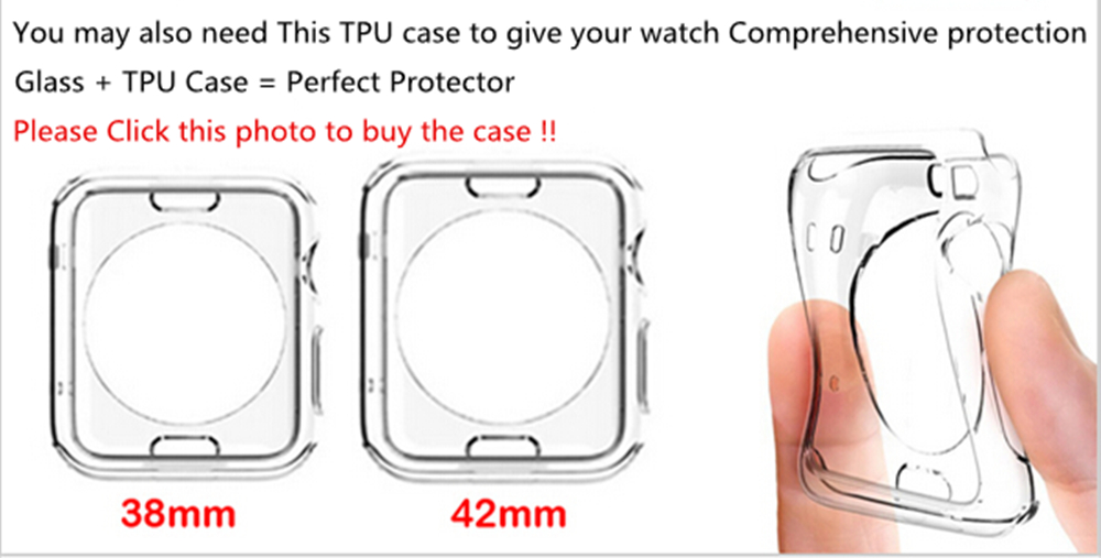BinFul 2.5D 9H Tempered Glass For Apple Watch Series 1 2 3 38 42 mm Screen Protector Protective Film For iwatch (Not Full Cover)