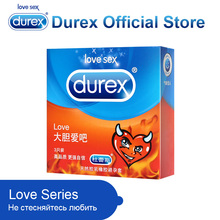 Durex Love Condoms Super Thin Fresh Condom Kondom Sex Toys Intimate Sex Products for Adults Sex Safe Penis Sleeves for Men Sex(China)