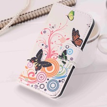 Fashion Leather Flip Cover Case For Samsung Galaxy Core Prime G360 G360H G361F G361H Wallet Cases FLower UK Fundas Capa Bags(China)