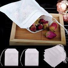 100Pcs/Lot Tea Bags String Heal Seal Filter Paper Teabag 6 x 8 CM For Herb Loose Disposable Teabags Rose Flower Tea Bags