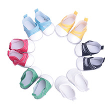 Various styles of canvas shoes for 18 inch American girl doll for baby gift, 43cm Baby Born zap,Doll accessories