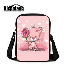 Dispalang cute mini children school bag girls cartoon crossbody bag bear baby little shoulder bag travel small casual bag flap(China)