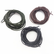 New 3Pcs 1 Meters Carp Fishing Silicone Rig Sleeves Black Green Coffee Soft Carp Rigs Tube Carp Fishing Accessories