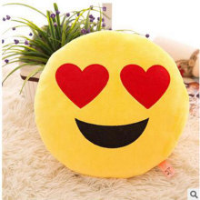 Hot Sale Cute Soft Emoji Smiley Emoticon Round Cushion  Decorative Emoji Pillow Plush Pillow For Toy Doll