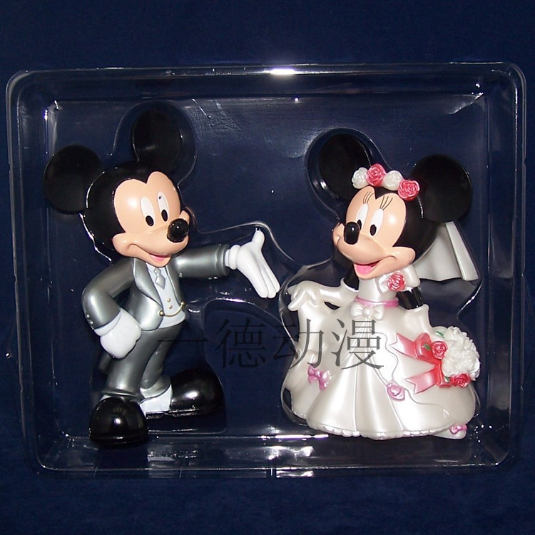 Anime Cartoon mickey and minnie mouse wedding pvc action figure toys  2pcs/set  childrens toys free shipping<br><br>Aliexpress