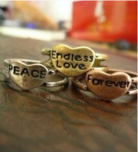 JZ115 Street beat the influx of people must be equipped Endless love.Peace forever ring wholesale