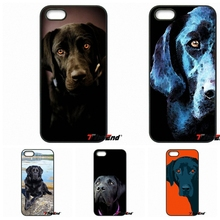For Samsung Galaxy Core Grand Prime S4 S5 S6 S7 Edge Xiaomi Redmi Note 2 4 3 3S Pro Mi5S Black Labrador Dog Pattern Case Cover(China)