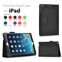 New Ultra Slim Solid PU Case For iPad 2 3 4 Case Smart Bracket Stand Tablet Funda Cover For ipad 2 / iPad 3 / iPad 4 Case(China)