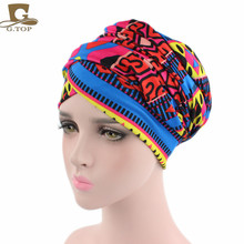 New African Design Headscarf Long Head Scarf Jewish Headcover Turban Shawl Warp Hair African Bohemian Headwrap Chemo Turbante(China)