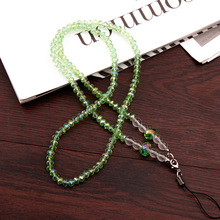 Universal 44CM Phone Strap Fashion Sling Lanyard Crystal Pearl Hanging Portable Mobile Phone Case Rope Card pack Rope For iPhone(China)