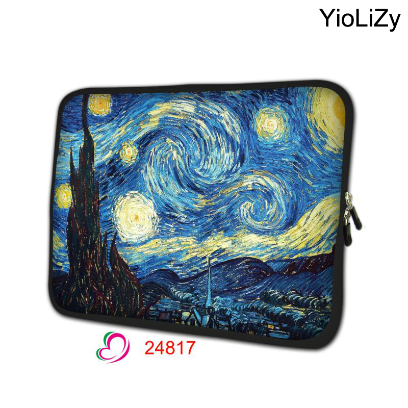 Van Gogh 7 9.7 12 13.3 14.1 15.6 17 inch Laptop tablet Bag Neoprene Notebook sleeve computer cover protective case pouchNS-24818(China (Mainland))