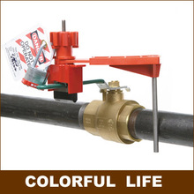 Single Stop-arm All-purpose Ball Valve Lock , gate valve Lock, Safety Cable System Lockouts,Industrial safety locks