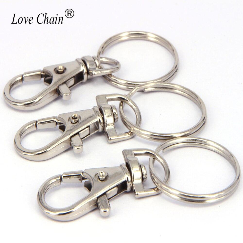 10 pcs Zinc Alloy Silver Swivel Snap Lanyard Hooks For Clasp Clips Key-Chain