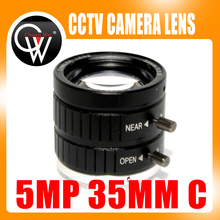 5MP 35mm 1:1.8 HD Industrial Camera Fixed Manual IRIS Focus Zoom Lens C Mount CCTV Lens for CCTV Camera Industrial Microscope