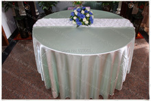 "132"" Round Mint Green (NO.97) Satin Tablecloth/Table Cover/Chair Cover/Chair Sash For Wedding Party Hotel Banquet Decorations"