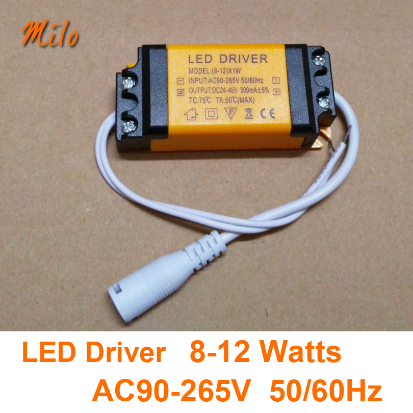 8W 9W 10W 11W 12W LED driver,LED power supply,Input:AC90-265V,50/60Hz.Output:DC24-45V,300mA,be used for LED indoor lighting(China (Mainland))
