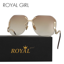 ROYAL GIRL New Arrive Fashion Square Rimless Sunglasses Women Vintage Brand Designer Coating Sun Glasses UV400 ss125(China)