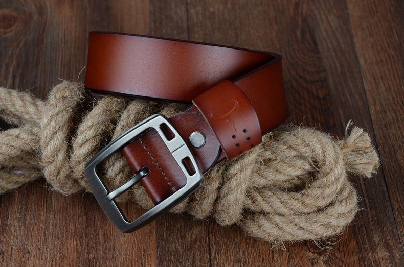 حزام COWATHER جلد طبيعي للرجال 24