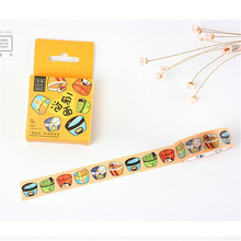 15mm*7m 1pc Cartoon a Bowl of  Instant Noodles Masking Tape Washi Tape  Design Tape Memo Sticker Tape Scrapbook Sticker