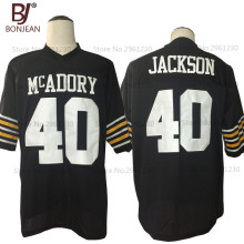 BONJEAN New Cheap American Football Jersey Bo Jackson 40 McAdory High School Football Jersey Throwback Black Stitched Mens Shirt