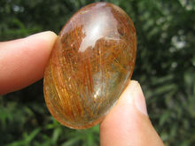 only one!!!!     30g(150 ct) Natural Hair Rutilated Quartz Crystal Pendant Cab China YARC008