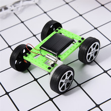 Solar Power Mini Cars DIY Assembled Intelligence Toy Children's Toy Car Outdoor Decoration Home Christmas Gifts For Child(China)
