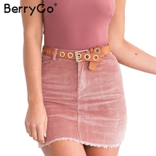 Buy BerryGo Corduroy pink pencil skirts womens Vintage streetwear metal button zipper short skirt 2017 New autumn mini skirt for $13.99 in AliExpress store