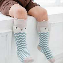TongYouYuan Infant Toddler Newborn Baby Socks Crib Bebe Kids Children Girl Boy Animal Pattern Cute Cartoon Knee Socks 0-2 Years