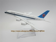 16cm Alloy Metal Air China Southern Airlines Plane Model Airbus 380 A380 Airways Aircraft Airplane Model W Stand  Gift