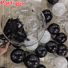 2pcs 10/18/24inch No Wrinkle Bobo Transparent Clear PVC Balloons Birthday Wedding Marriage Party Decor Helium Inflatable Globos(China)