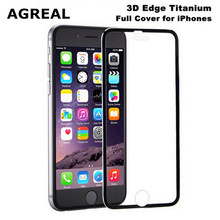 AGREAL 3D case screen for iPhone 6 7 6plus Tempered Glass Full Cover 3D Curved Edge Titanium Protective Film for iphone 7 plus