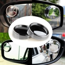 POSSBAY 10 Pairs Wide Angle Round Convex Vehicle Car Blind Spot Mirror Auto Rear View for All Autos Cars Motorcycles