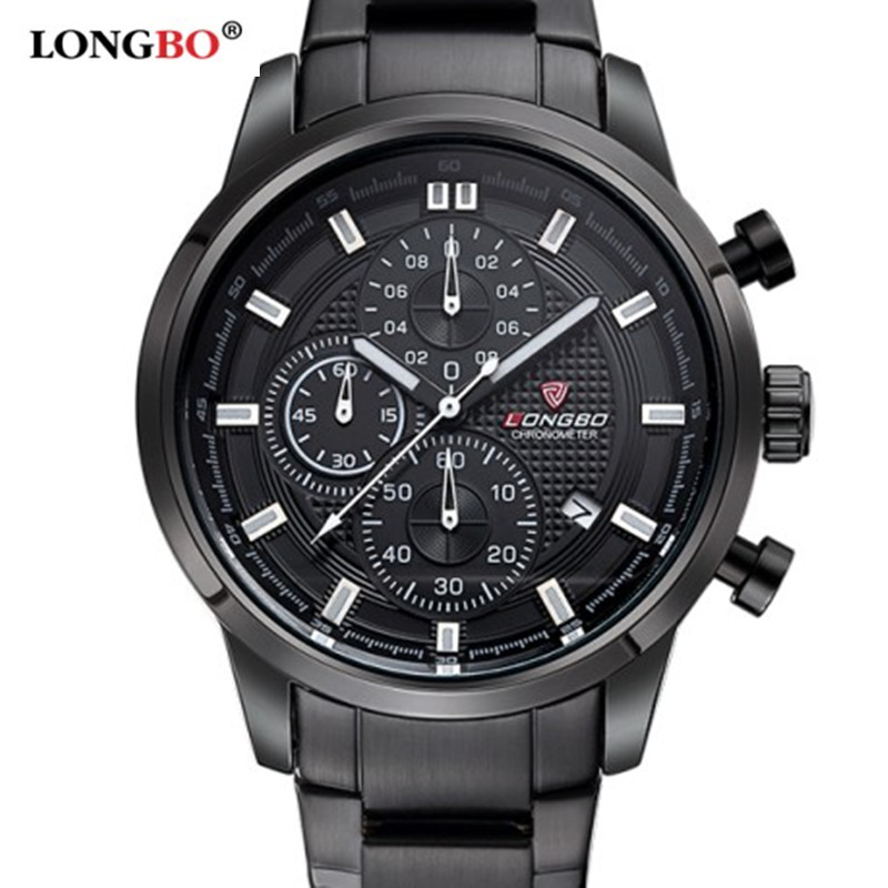 2017 Chronograph sports brand military quartz mens stop watch steel waterproof fashion casual luxury watches relogio masculino<br><br>Aliexpress