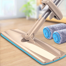 Big Flat Mop Roller Pulling Squeezing Water Mop Free Hands 360 Degree Swiveling Mops Suitable for Wood Floor Bottom Size:32*10cm