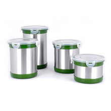 Visualization stainless steel coffee sealed cans/4pcs milk powder cans tea fresh-care storage chests(China)
