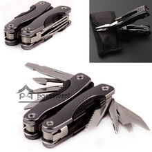 Outdoor Survival Stainless Steel 9 In1 Tool Plier Portable Pocket Mini Knit Compact Knives Opener Pry bar Saw